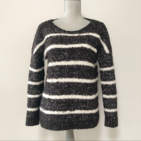 Calvin Klein sweater chunky textured knit striped